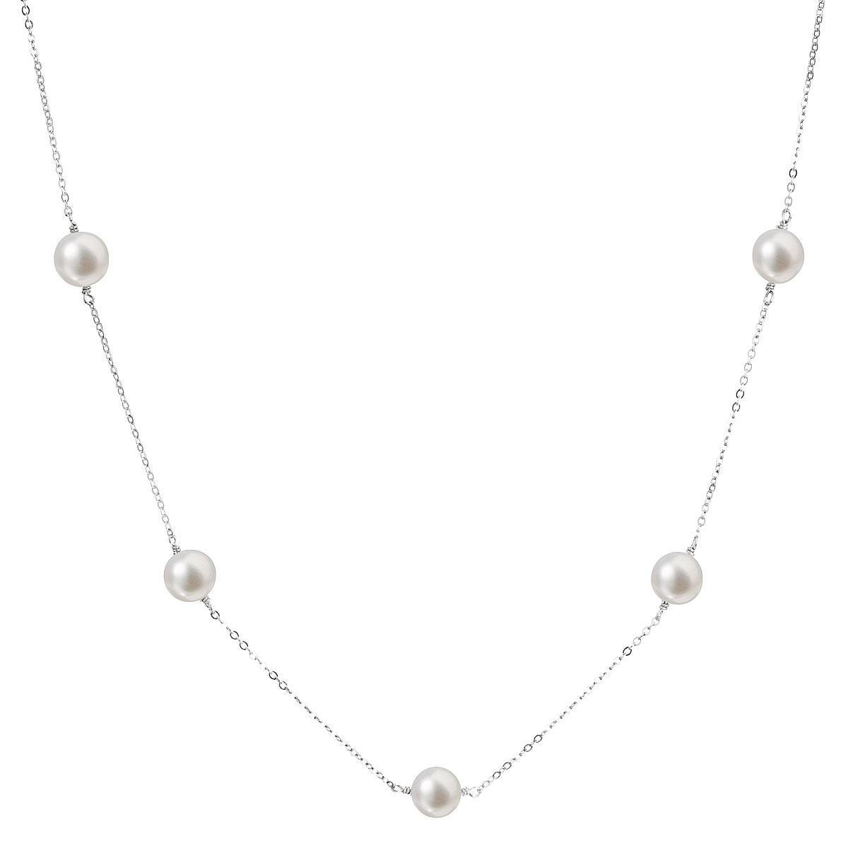 Evolution Group Perlový náhrdelník z pravých říčních perel bílý 22015.1