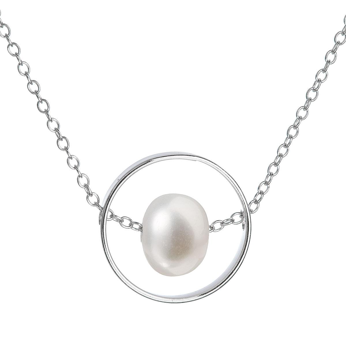 Evolution Group Perlový náhrdelník z pravých říčních perel bílý 22019.1