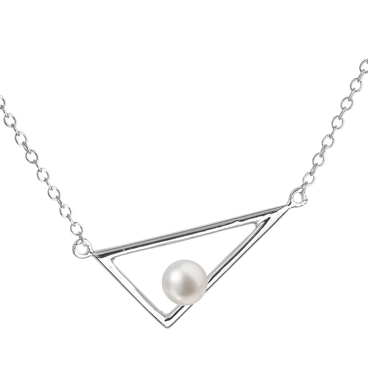 Evolution Group Perlový náhrdelník z pravých říčních perel bílý 22020.1