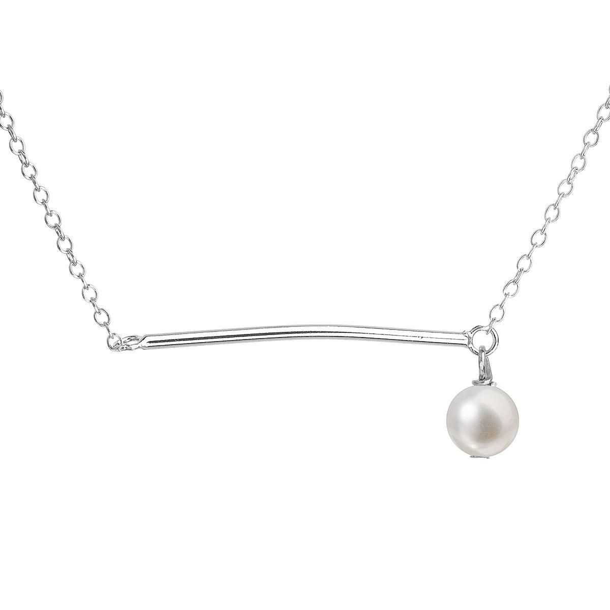 Evolution Group Perlový náhrdelník z pravých říčních perel bílý 22022.1