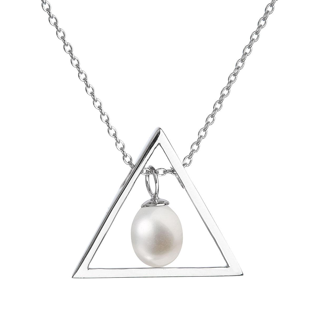 Evolution Group Perlový náhrdelník z pravých říčních perel bílý 22024.1