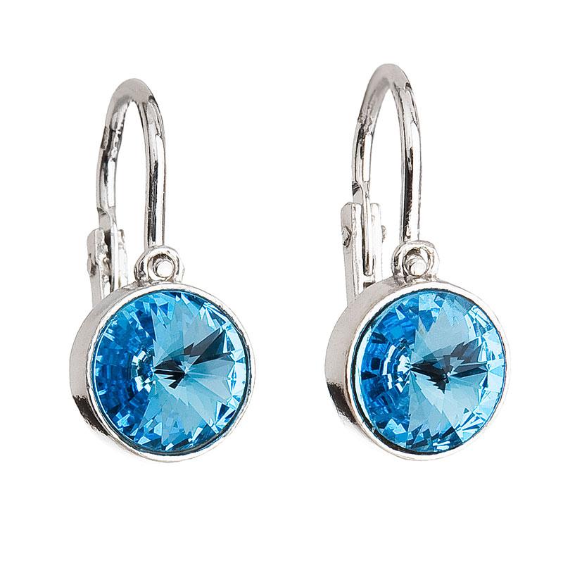 Evolution Group Stříbrné dětské náušnice s krystaly modré 31126.3