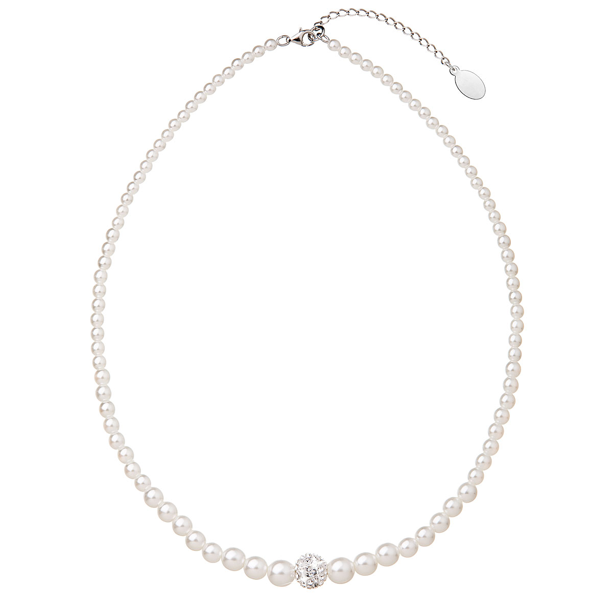 Evolution Group Perlový náhrdelník bílý 32006.1, dárkové balení