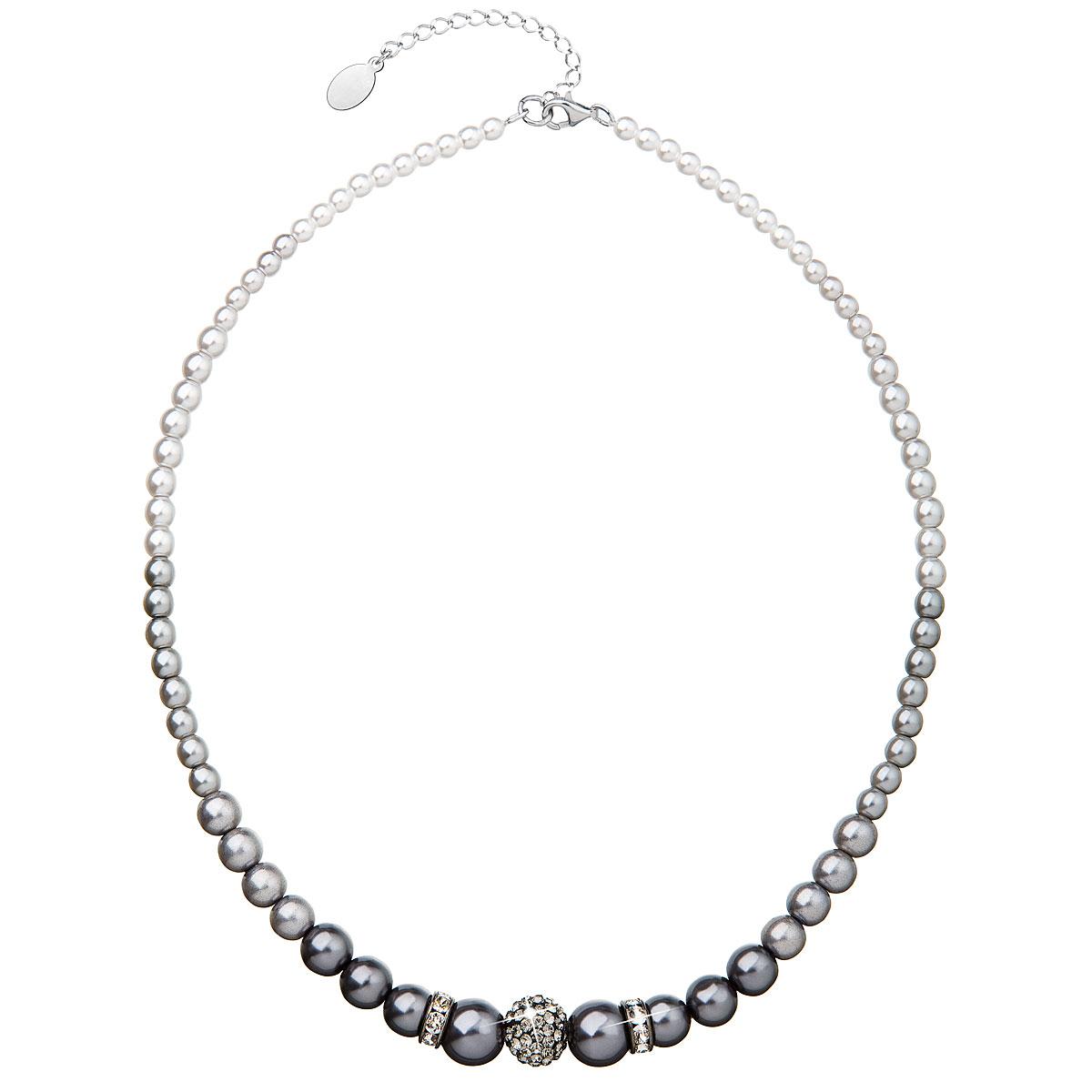 Evolution Group Perlový náhrdelník šedý 32008.3