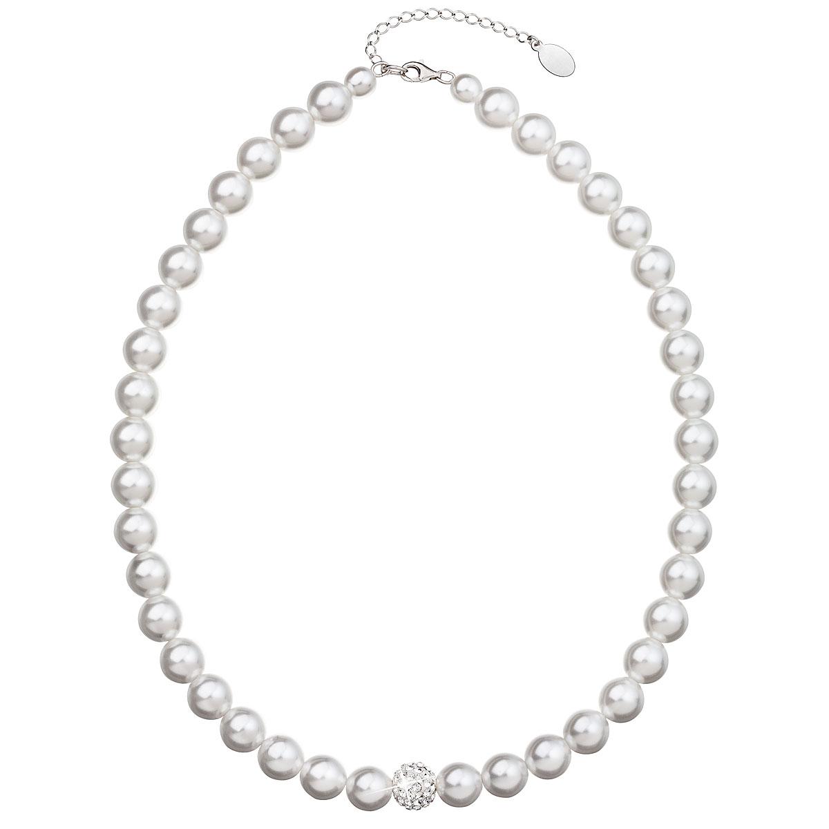 Evolution Group Perlový náhrdelník bílý 32011.1