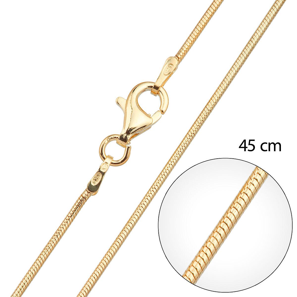 Pozlacený řetízek kulatý délka 45 cm 30004