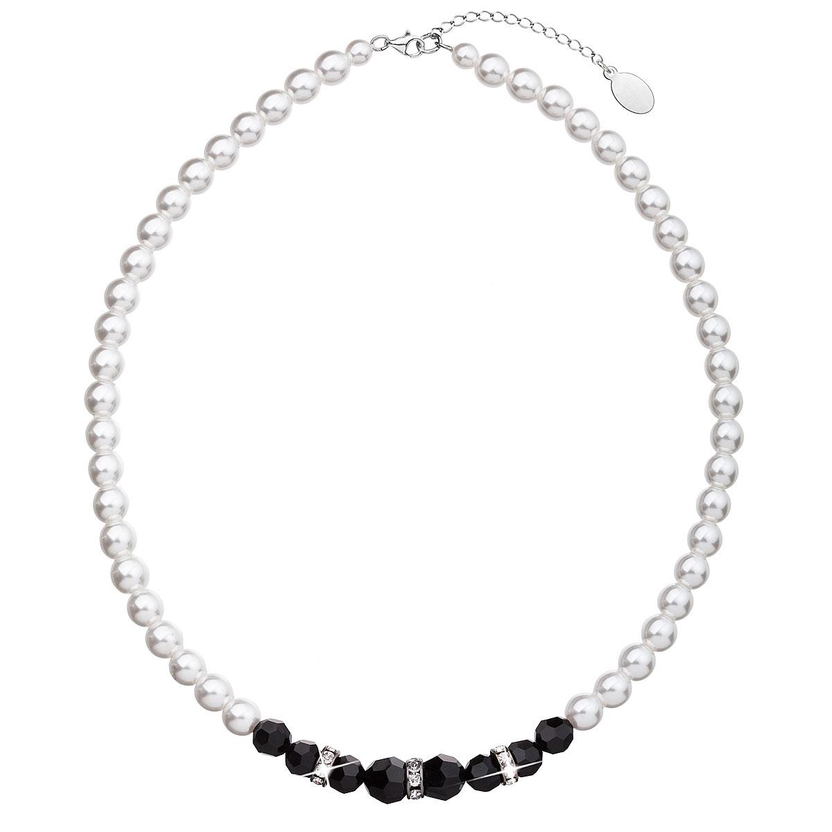 Evolution Group Perlový náhrdelník černo bílý 32013.1