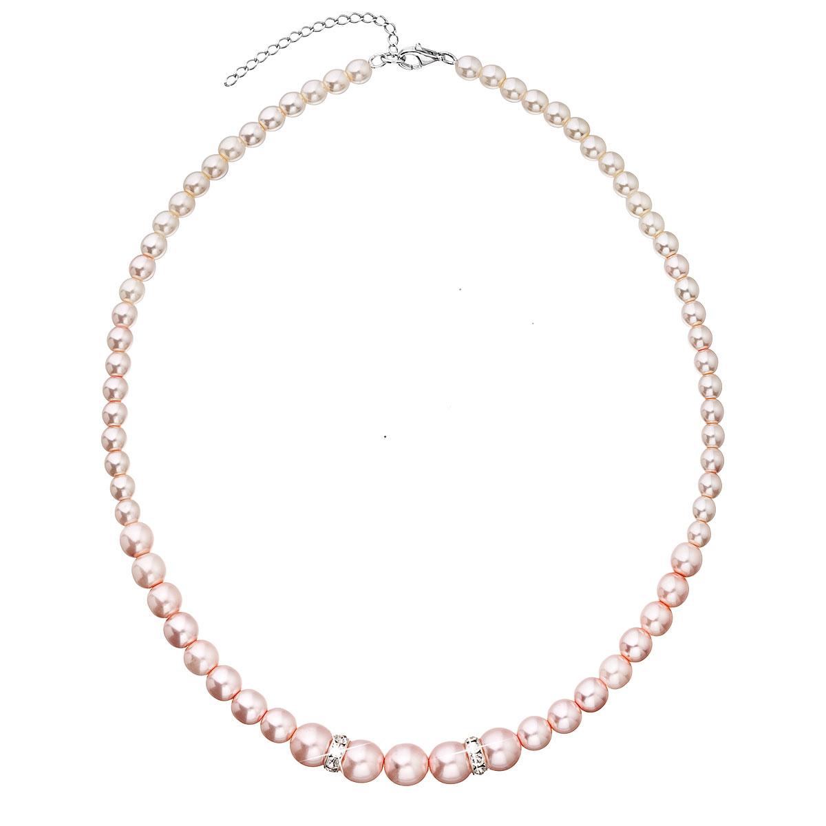 Evolution Group Perlový náhrdelník růžový 32036.3