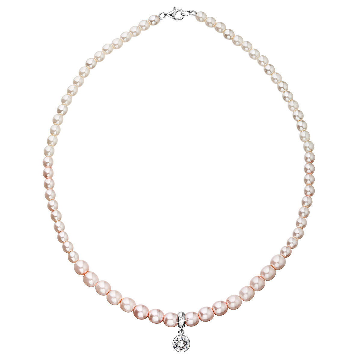 Perlový náhrdelník růžový 32037.3