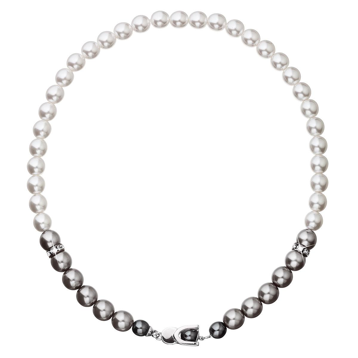 Evolution Group Perlový náhrdelník šedý 32043.3