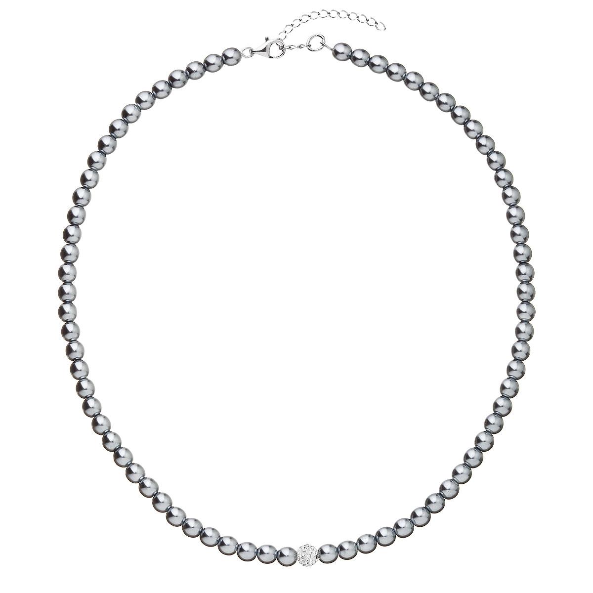 Perlový náhrdelník šedý 32063.3