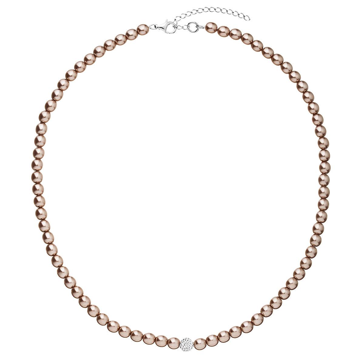 Evolution Group Perlový náhrdelník hnědý 32063.3