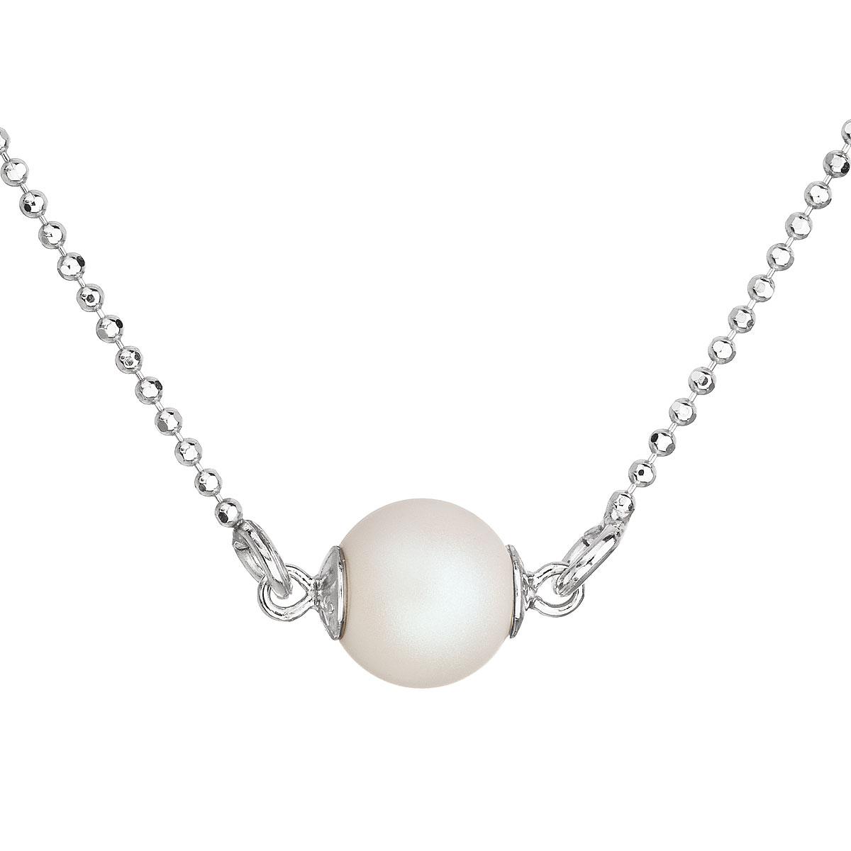 fd1c7248c Stříbrný náhrdelník s bílou matnou perlou 32068.1
