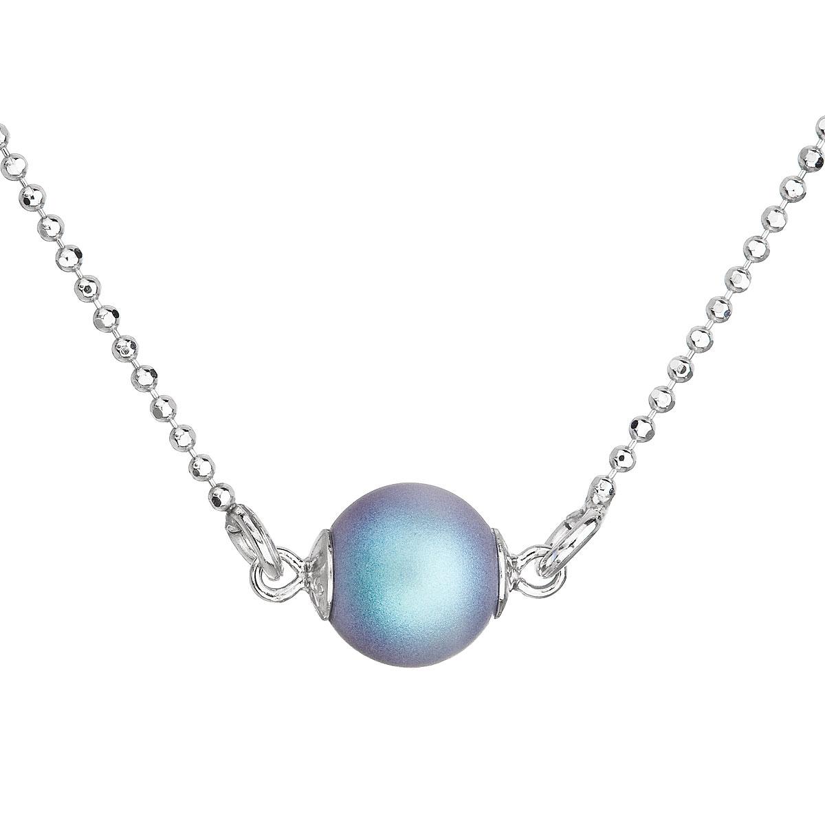 8e300e89b Stříbrný náhrdelník se světlemodrou matnou perlou 32068.3