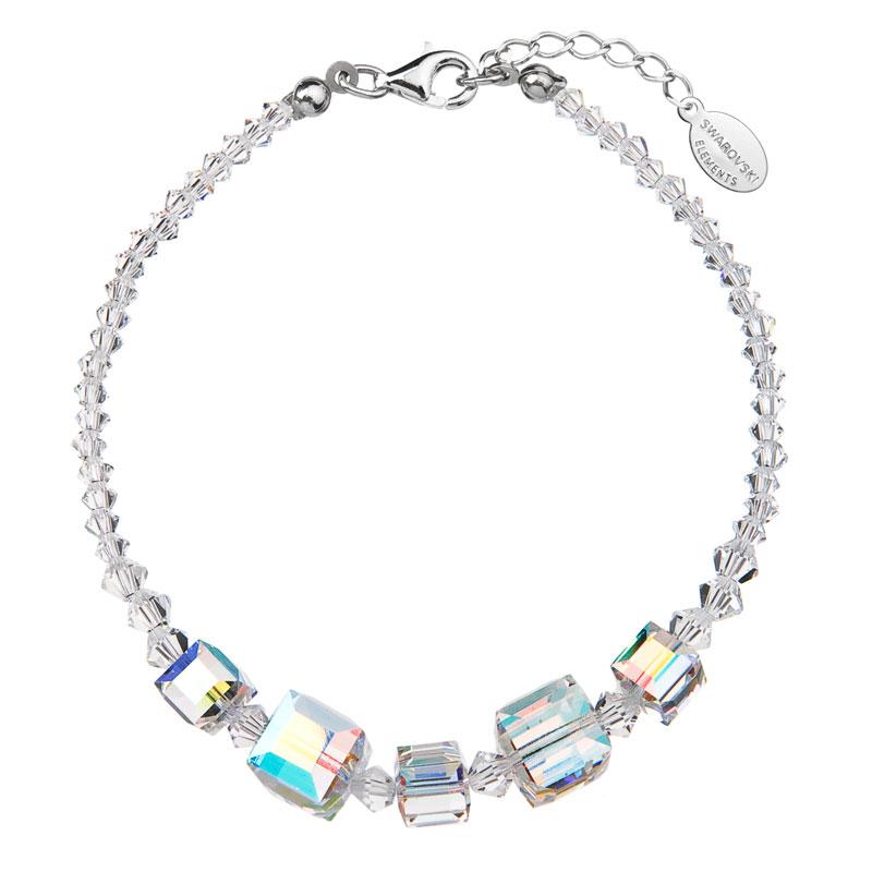 Stříbrný náramek se Swarovski krystaly AB efekt 33005.2