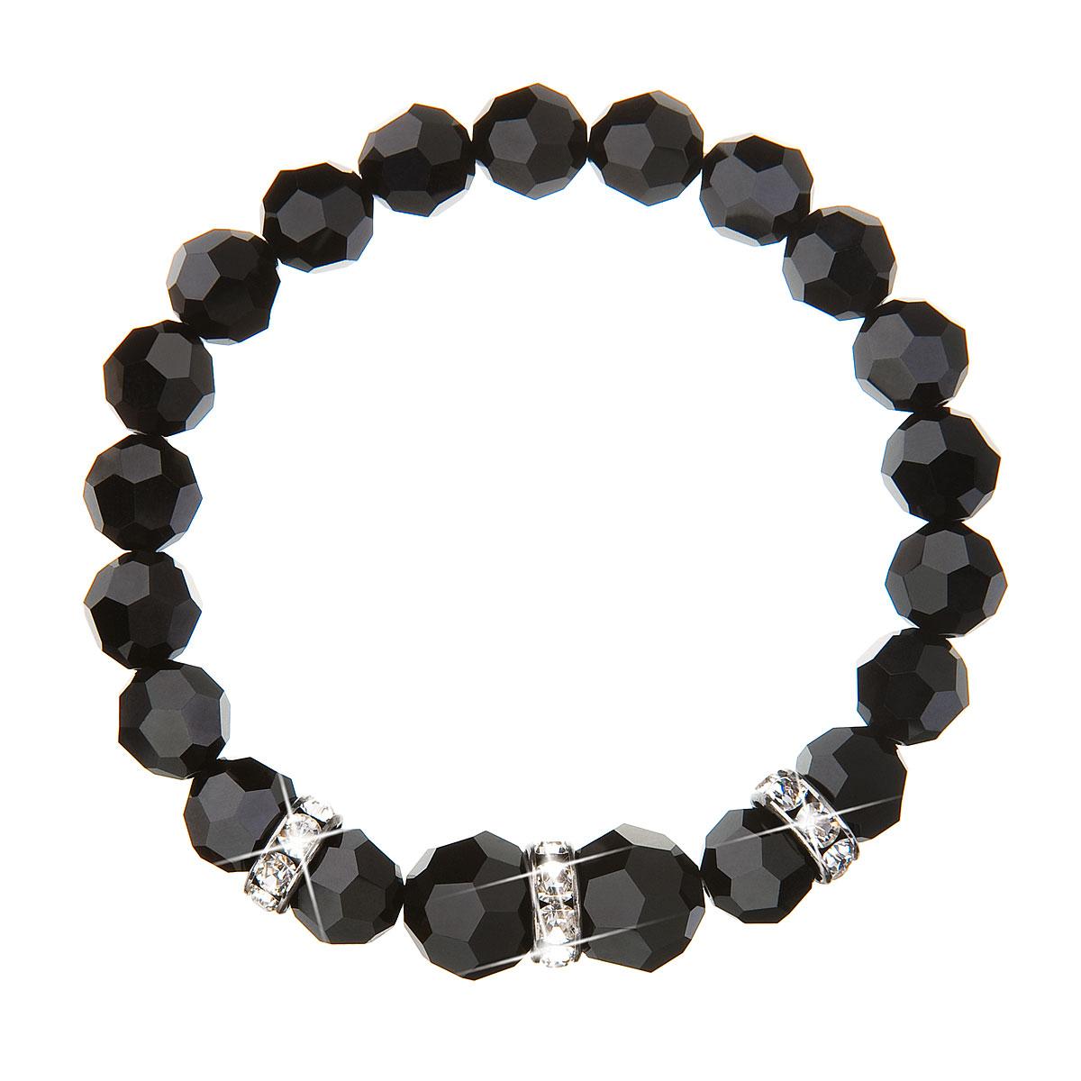 Náramek se Swarovski krystaly černý 33056.3