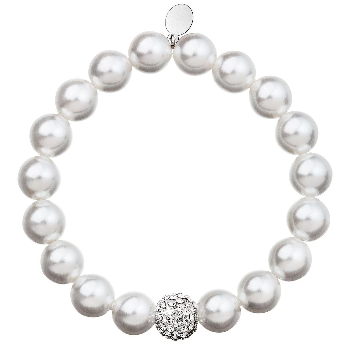 Perlový náramek bílý 33074.1