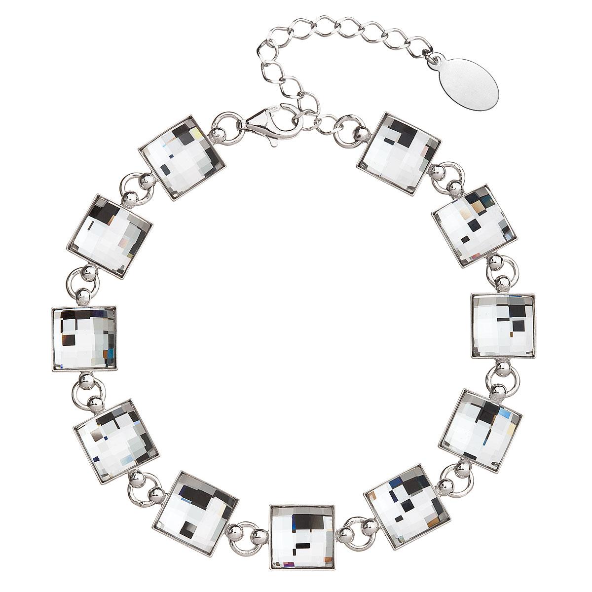 Stříbrný náramek se Swarovski krystaly bílý 33077.1