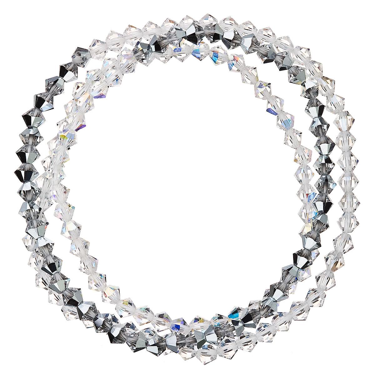 Náramek se Swarovski krystaly šedý 33081.5 calvsi AB