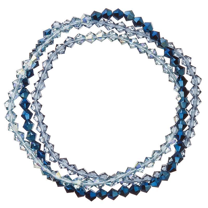 Evolution Group Náramek se Swarovski krystaly modrý 33081.5 metalic denim