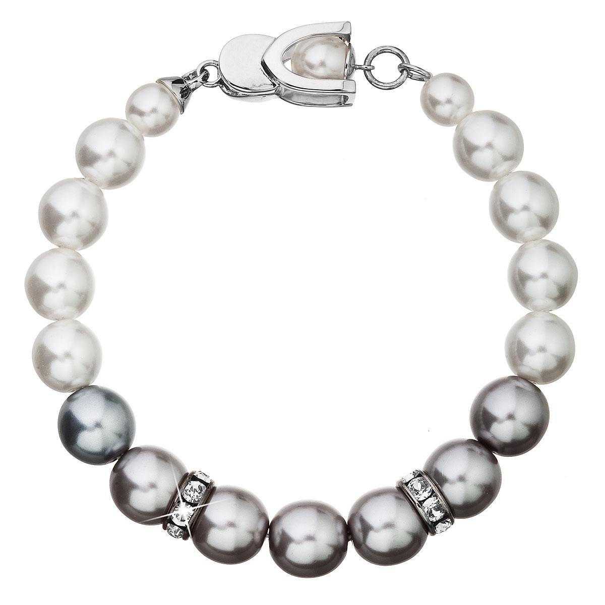 Perlový náramek bílo-šedý 33097.3