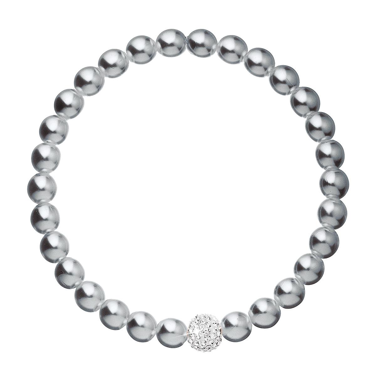 Perlový náramek šedý 33115.3
