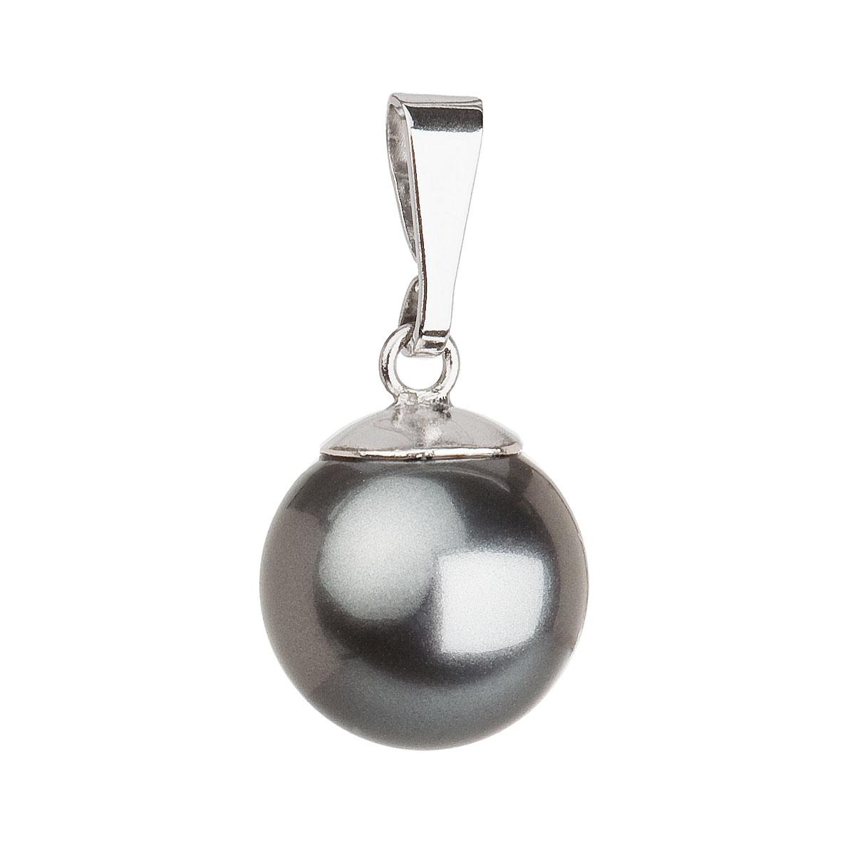 Evolution Group Stříbrný přívěsek s šedou kulatou perlou 34150.3