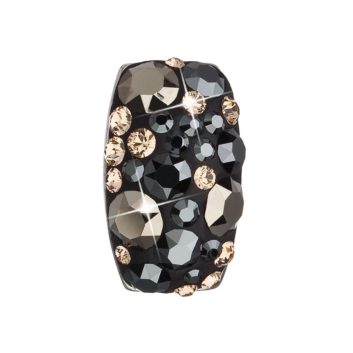 Stříbrný přívěsek s krystaly Swarovski mix barev obdélník 34194.4 colorado