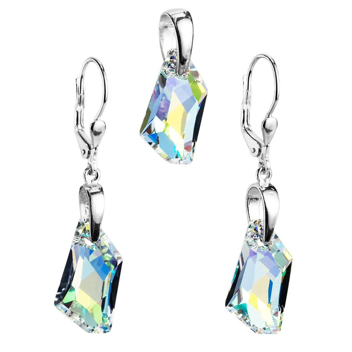 Sada šperků s krystaly Swarovski náušnice a přívěsek AB efekt bílý krystal  39039.2 3edb0856e8d