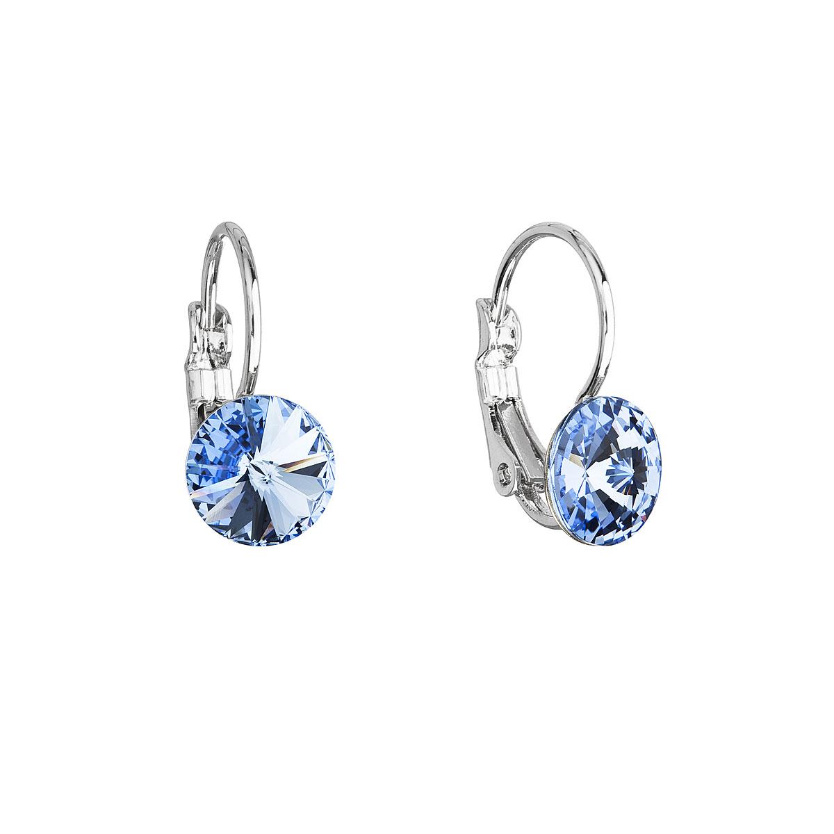 Náušnice bižuterie se Swarovski krystaly modré kulaté 51031.3 sapphire