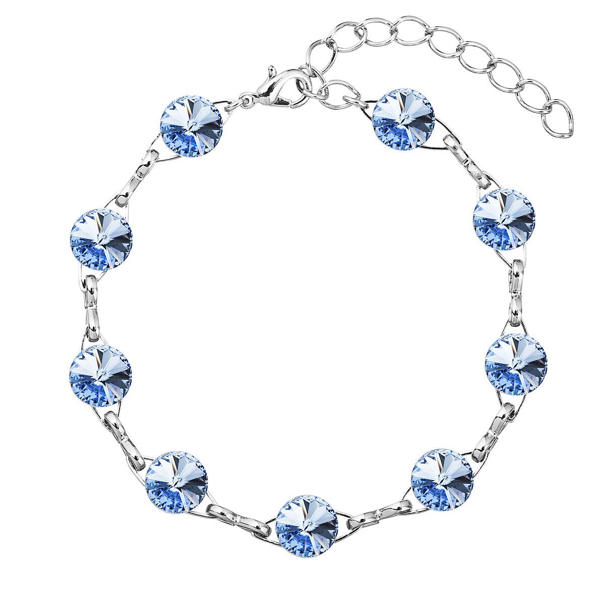 Náramek bižuterie se Swarovski krystaly modrý 53001.3 light sapphire