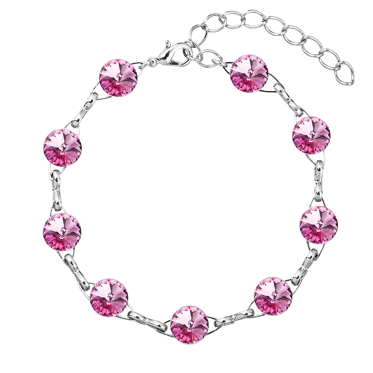 Náramek bižuterie se Swarovski krystaly růžový 53001.3 rose