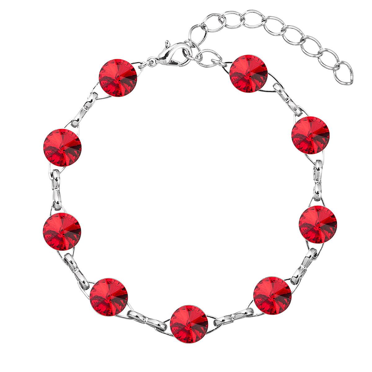 Náramek bižuterie se Swarovski krystaly červený 53001.3