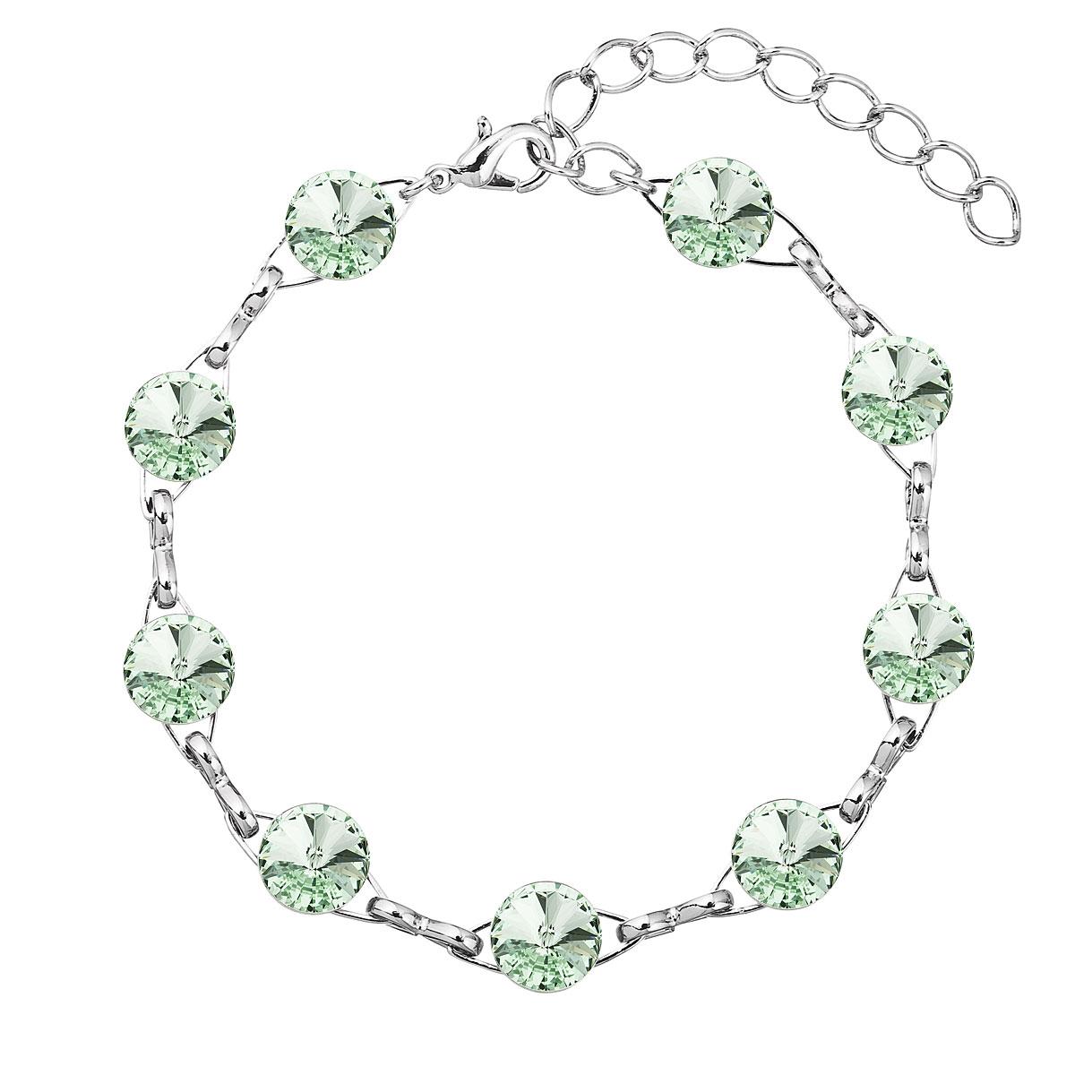 Náramek bižuterie se Swarovski krystaly zelený 53001.3