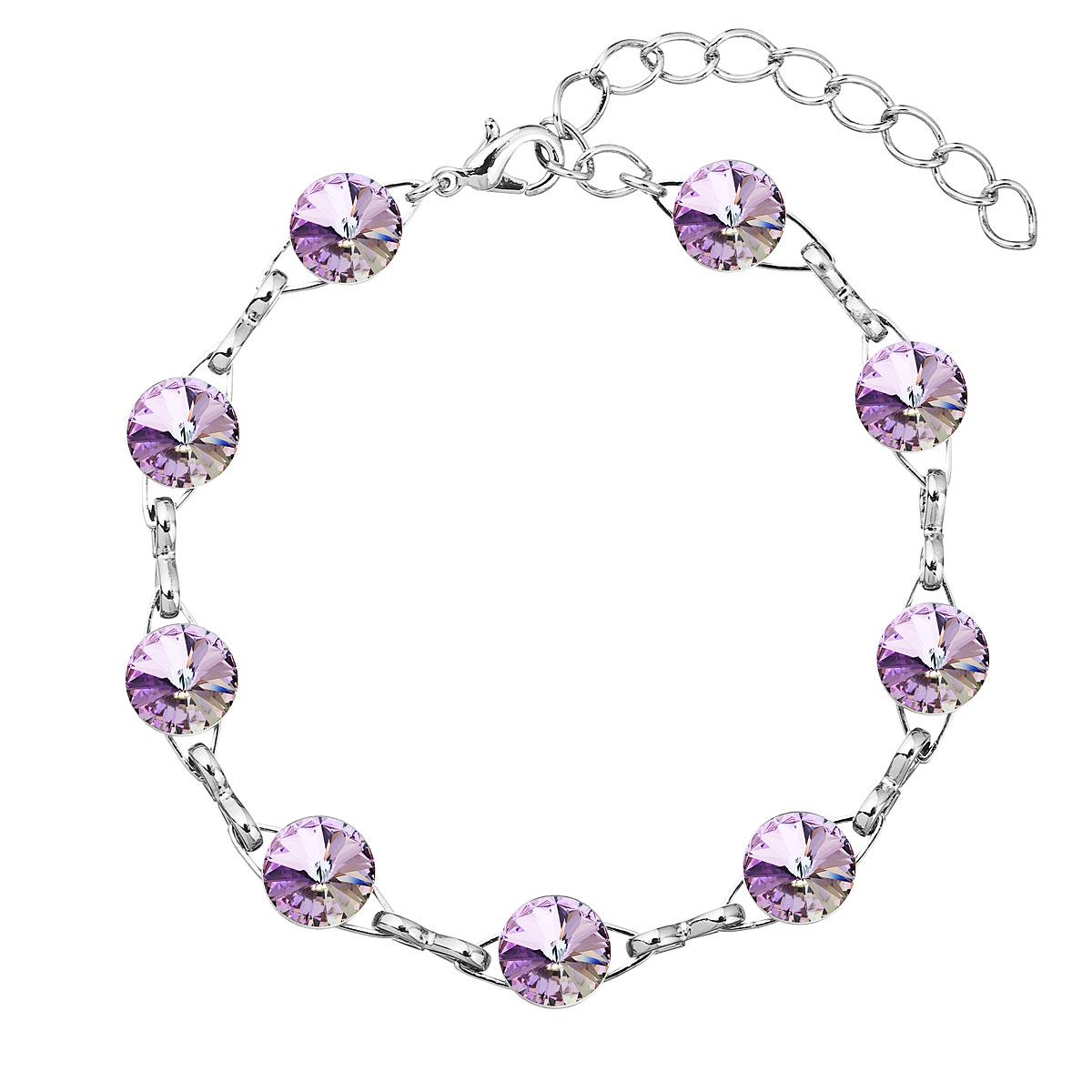 Náramek bižuterie se Swarovski krystaly fialový 53001.5