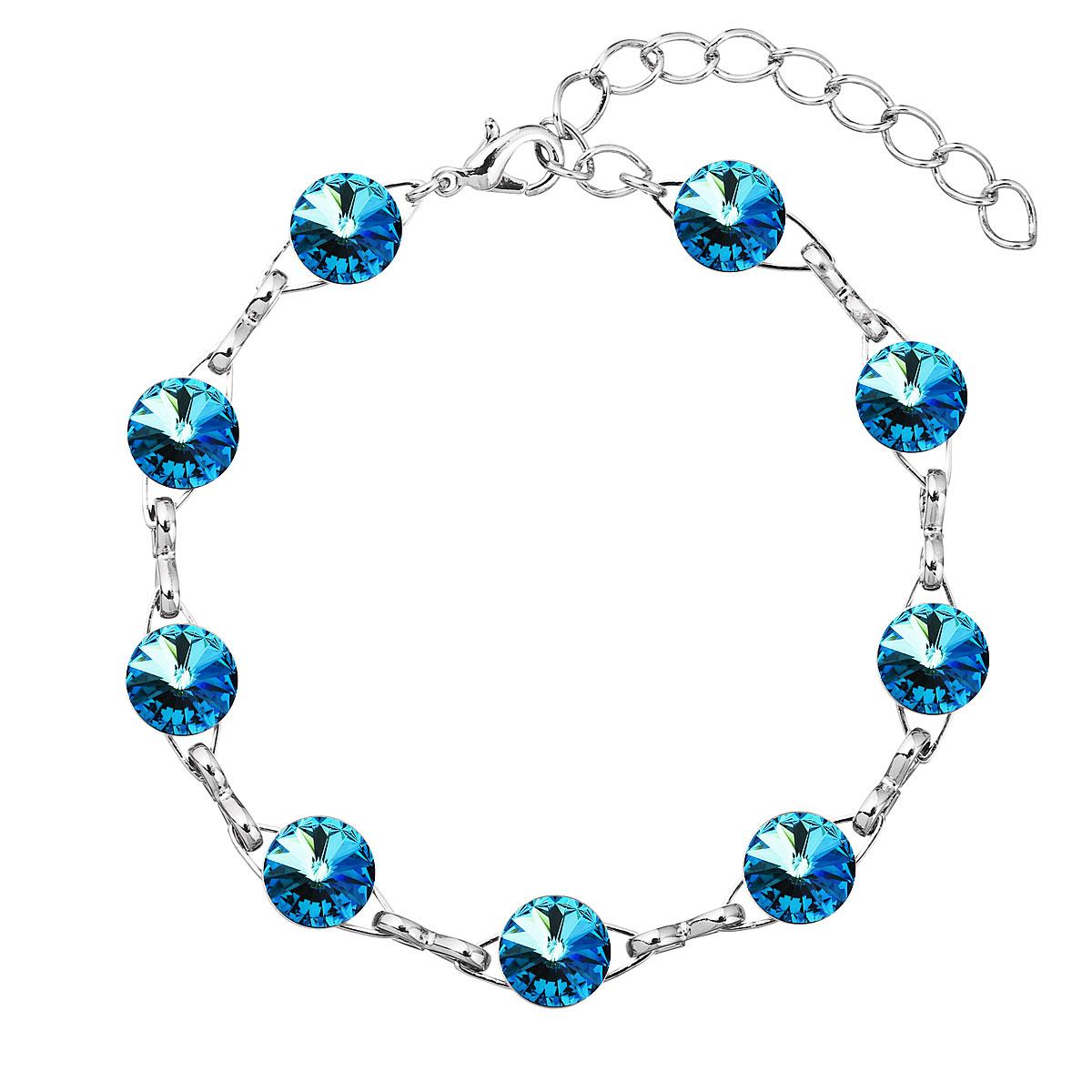 Náramek bižuterie se Swarovski krystaly modrý 53001.5