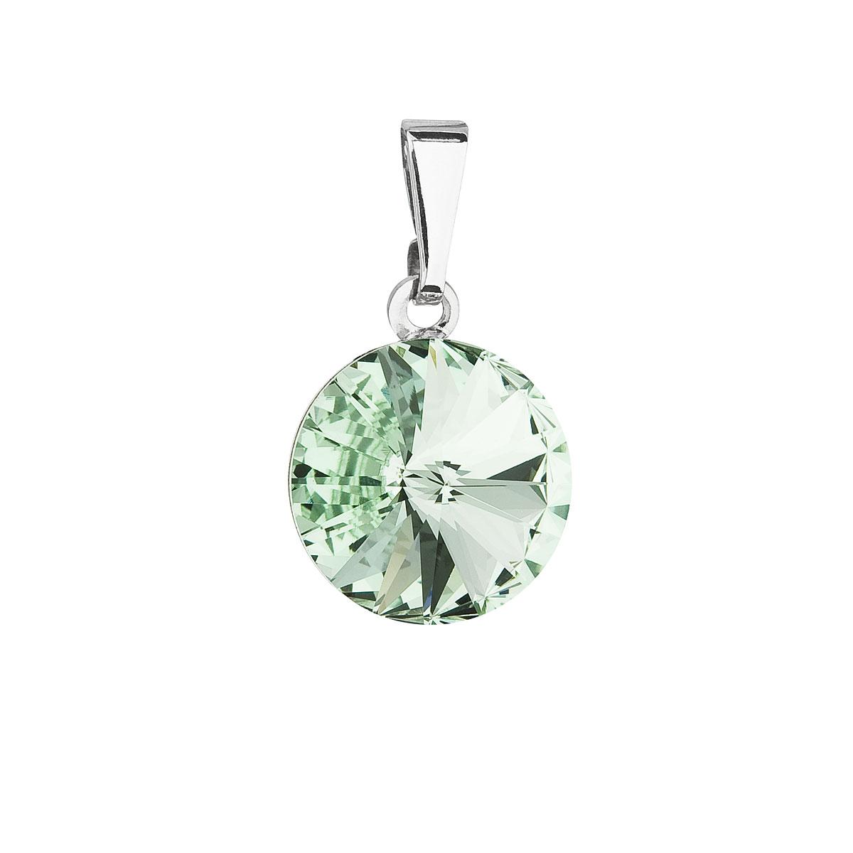 Evolution Group Přívěsek se Swarovski krystaly zelený kulatý 54001.3