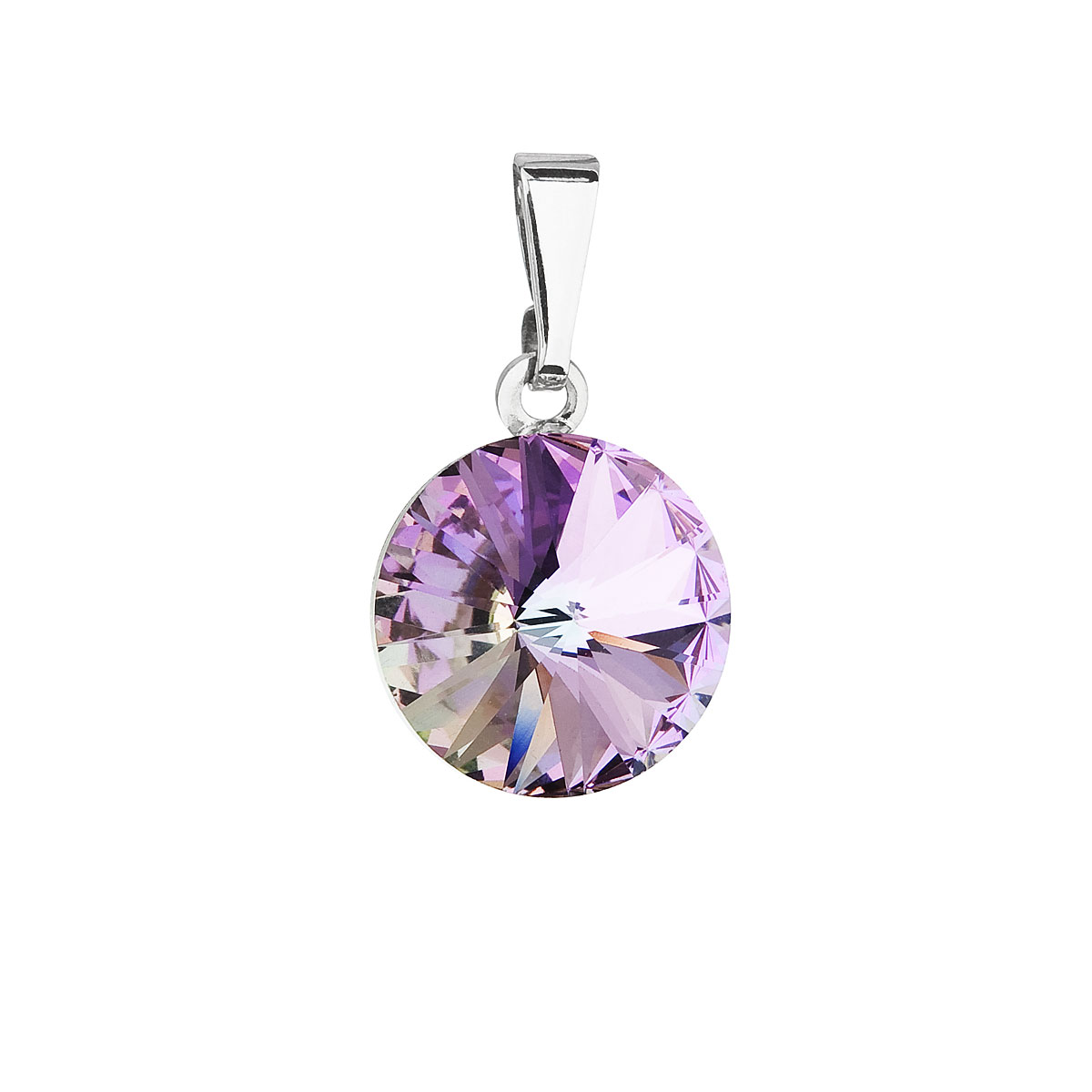Evolution Group Přívěsek se Swarovski krystaly fialový kulatý 54001.5