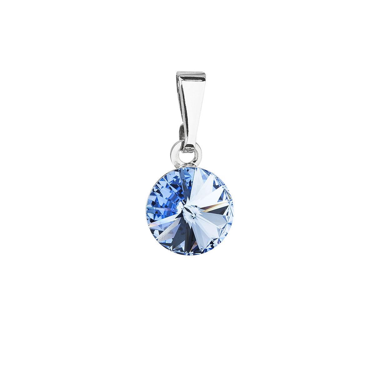Evolution GrouEvolution Group Přívěsek se Swarovski krystaly modrý kulatý 54018.3 sapphire