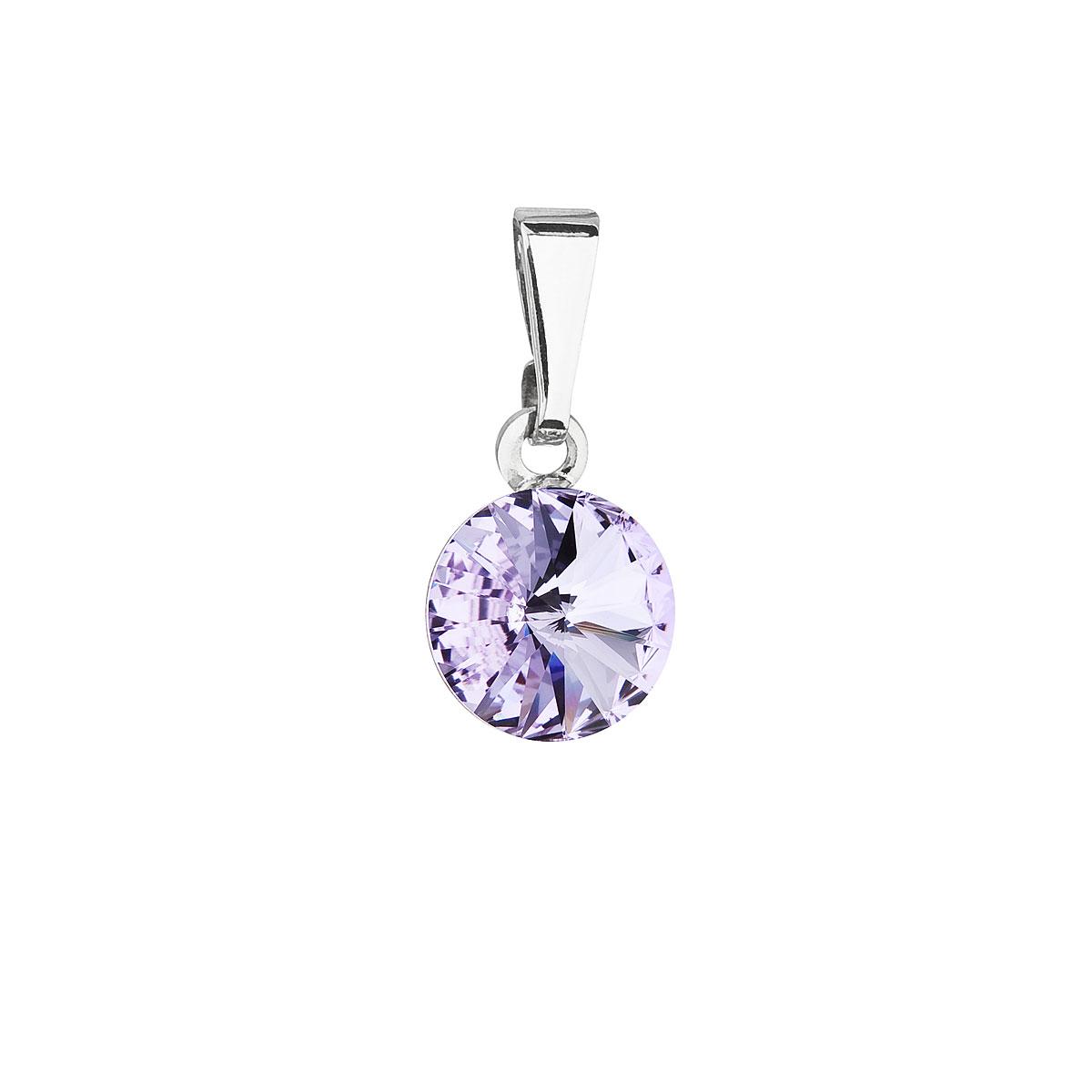 Evolution Group Přívěsek se Swarovski krystaly fialový kulatý 54018.3 violet
