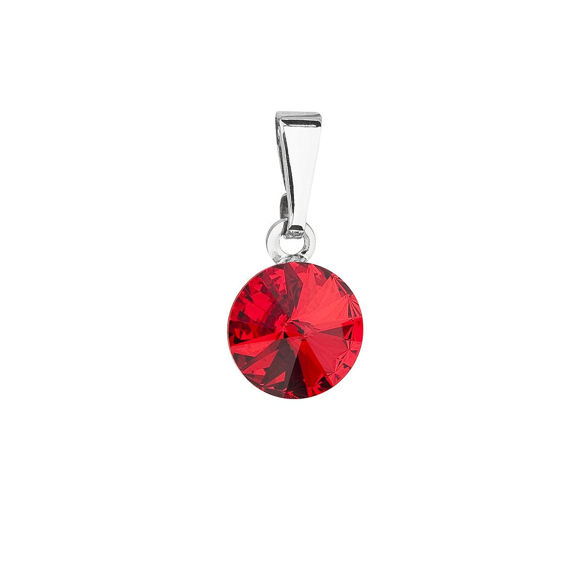 Evolution Group Přívěsek se Swarovski krystaly červený kulatý 54018.3