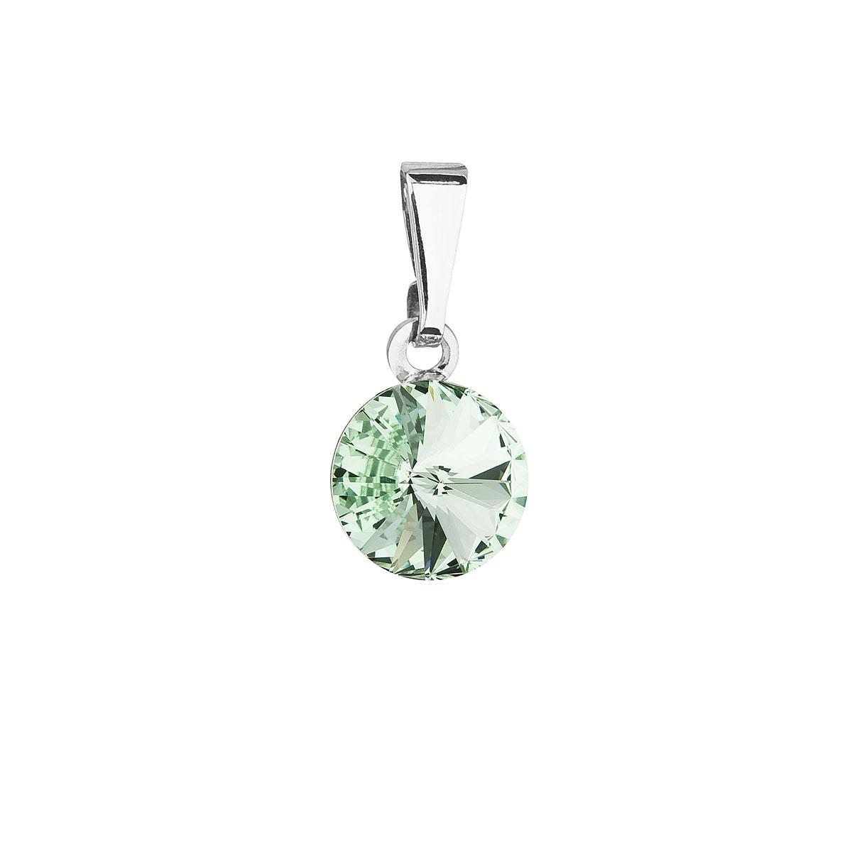 Evolution Group Přívěsek se Swarovski krystaly zelený kulatý 54018.3