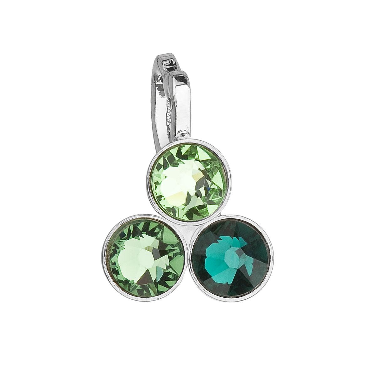 Evolution Group Přívěsek se Swarovski krystaly zelený 54030.3