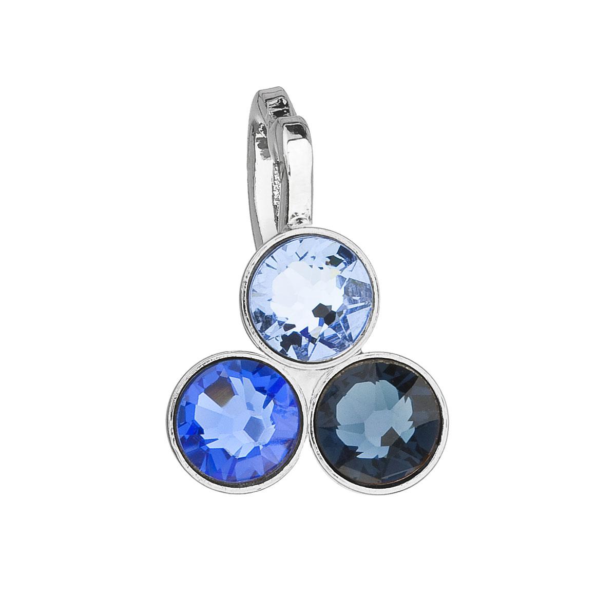 Evolution Group Přívěsek se Swarovski krystaly modrý 54030.3