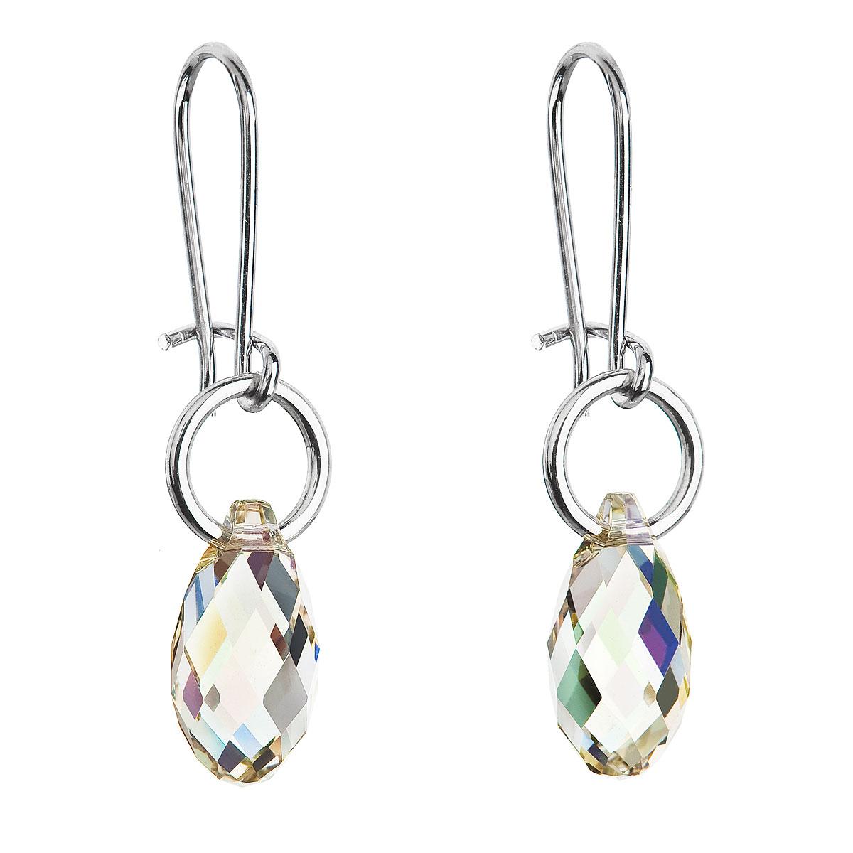 Náušnice se Swarovski krystaly slza 56004.6