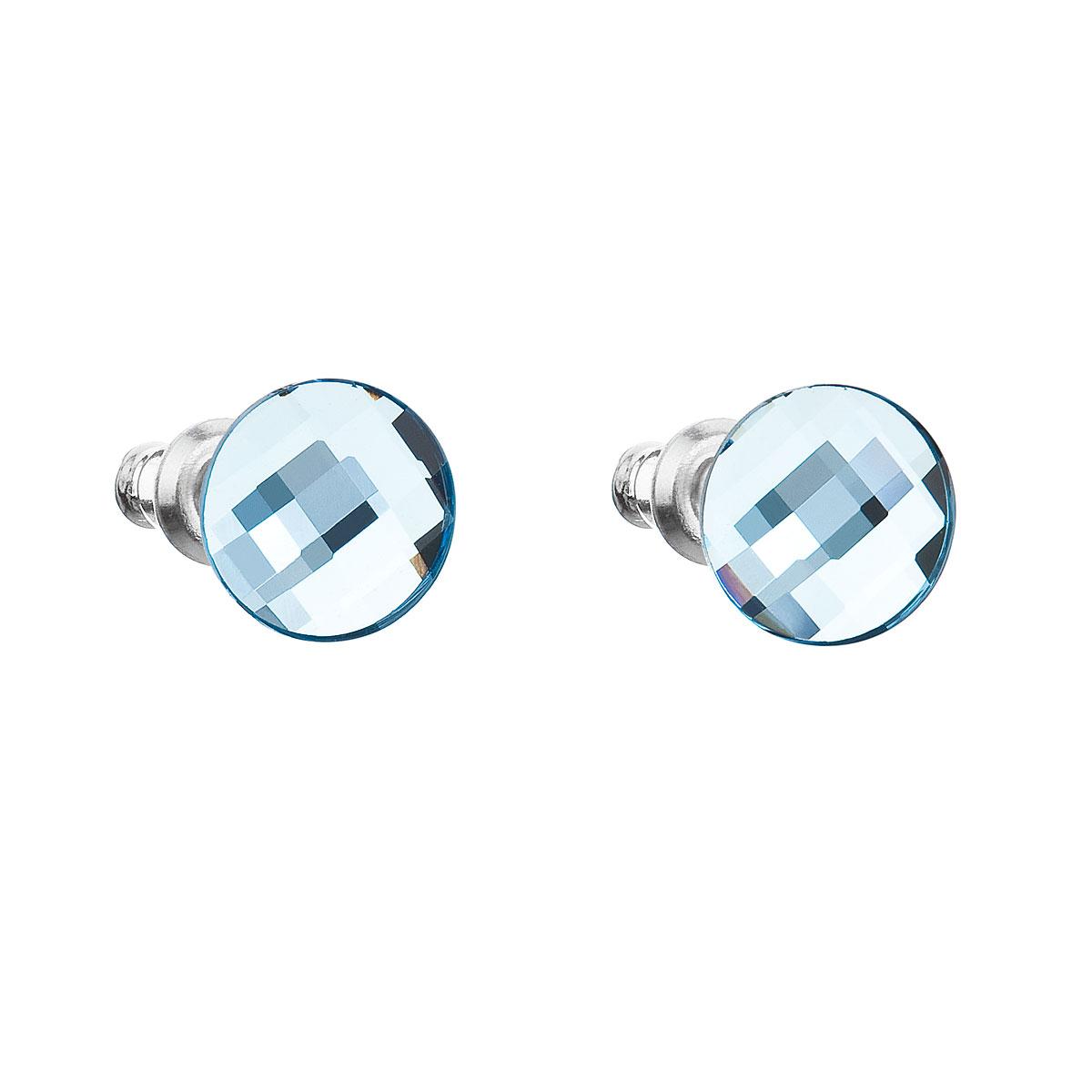 Náušnice bižuterie se Swarovski krystaly modré kulaté 56008.3 aqua