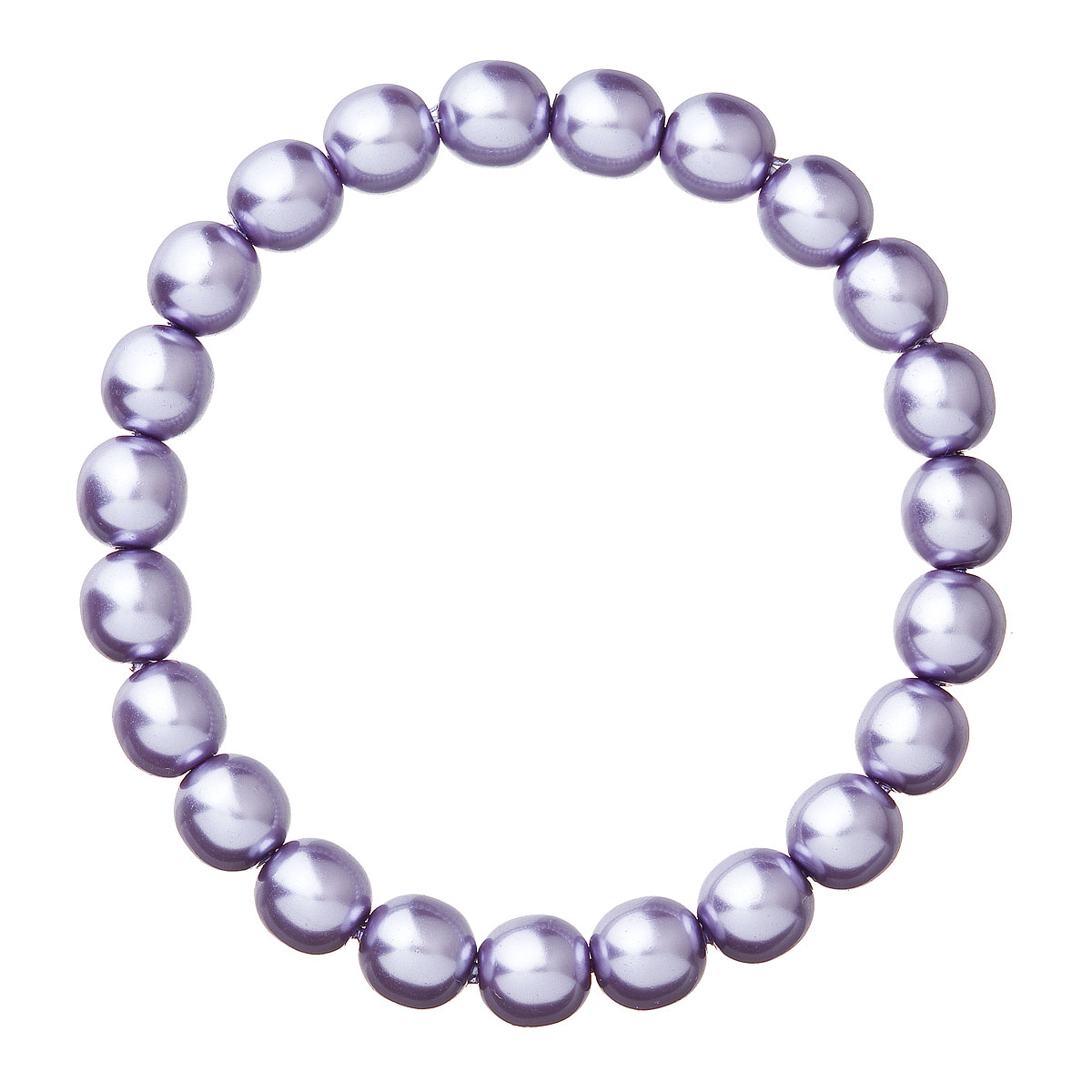 Perlový náramek fialový 56010.3 violet