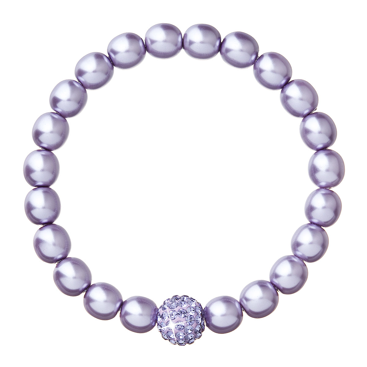 Náramek se Swarovski krystaly fialový 73003.3