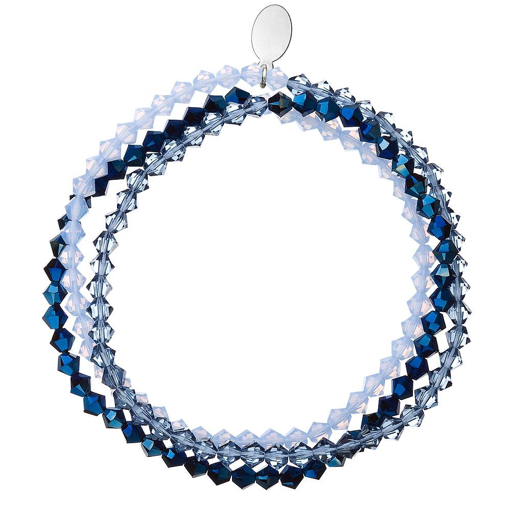 Náramek s krystaly modrý 733081.5 metalic blue
