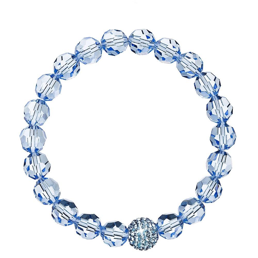 Evolution Group Náramek s krystaly modrý 733066.3